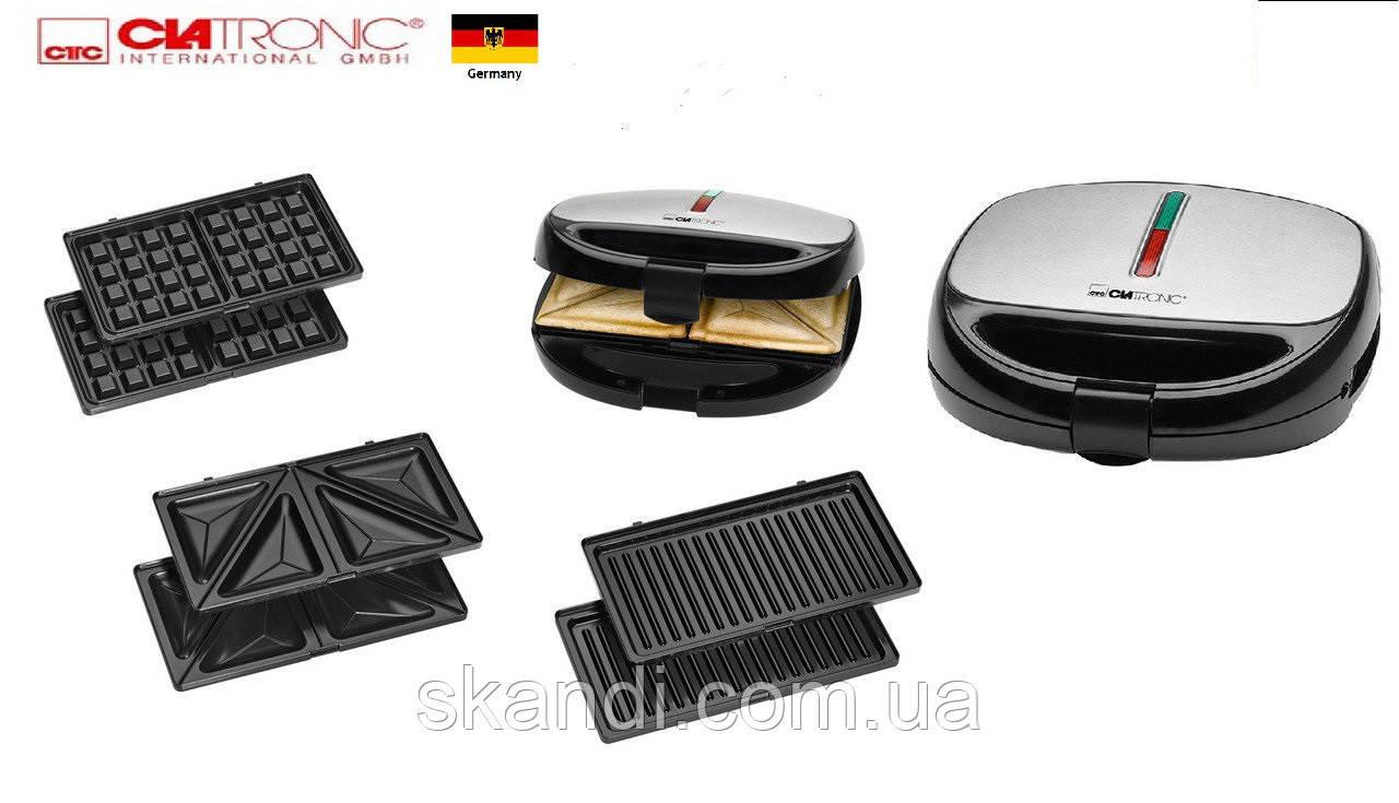 Сендвичница-гриль-вафельница 3 в 1 Clatronic(Оригинал)Германия (Хит продаж)