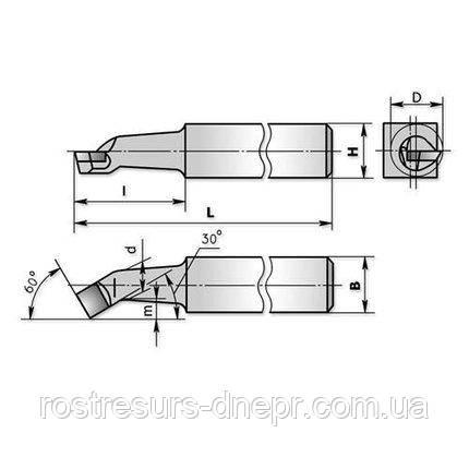 Резец расточной для сквозных отверстий 12х16х140 Т5К10