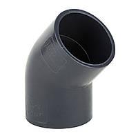 Колено пластиковое ПВХ под клей 50*45 мм