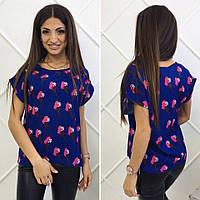 Женская модная футболка с принтом Мороженое (42-46 р) 77П917