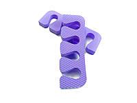 Растопырки для педикюра (разделители пальцев ног) Eva-Line 200 шт. Фиолетовый