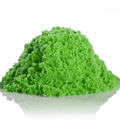 Кинетический песок зеленый (Kinetic Sand green) + контейнер