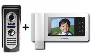 Видеодомофон Commax CDV-50N + вызывная панель антивандальная