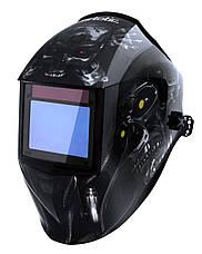 Сварочная маска VITA TIG 3-A Pro TrueColor (цвет металлические соты синие), фото 3
