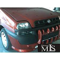 Накладка на передний бампер Клыки (под покраску) Добло 2001