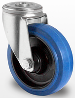 Колесо поворотное с роликовым подшипником 100 мм, полиамид/эластичная резина (Германия)