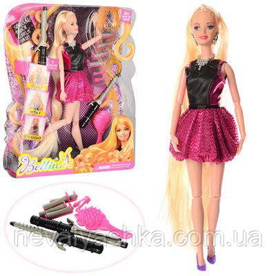 Кукла шарнирная набор парикмахера с длинными волосами прически, 66779, 007238