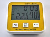 Электронный детский термометр - гигрометр, часы DC 107, фото 1