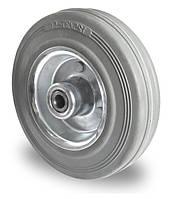 Колесо с роликовым подшипником 125 мм, сталь/серая резина (Германия)