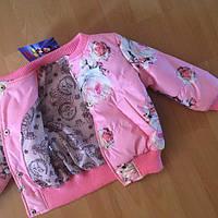 "Весенняя курточка ""Розы"" для девочки"
