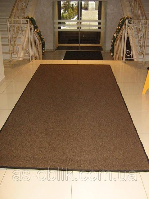 Килимок біля дверей «Поляна» (темно-коричневий)