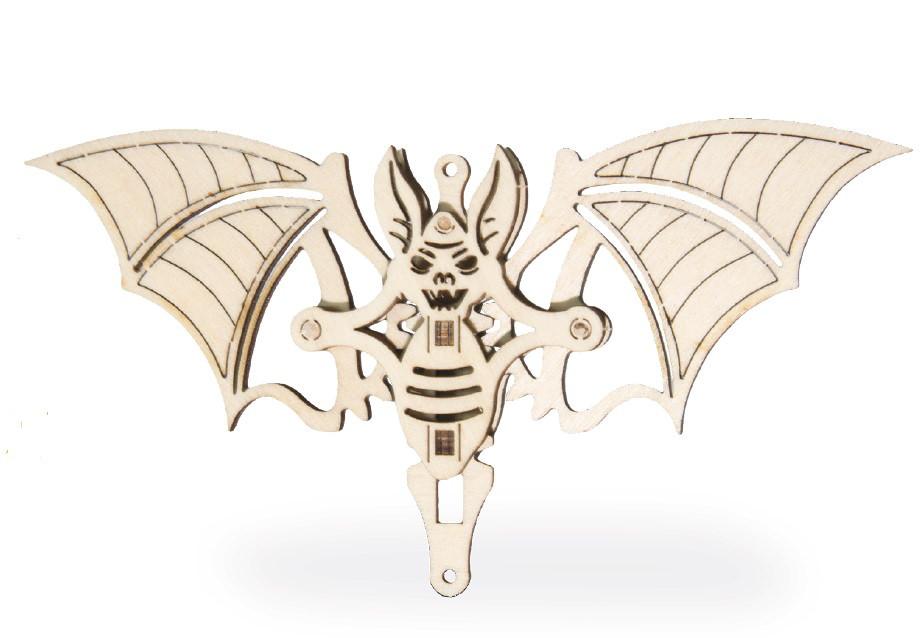 Механический 3D пазл Вудик Летучая Мышь
