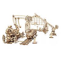 Механический 3D пазл Манипулятор на рельсах, фото 1