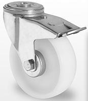 Колесо поворотное с тормозом с подшипником скольжения 100 мм, полиамид (Германия)