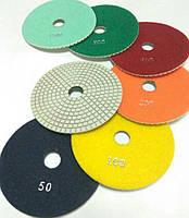 """Алмазные липучки, """"Черепашки"""", гибкие полировальные круги для полировки гранита и мрамора d125mm"""