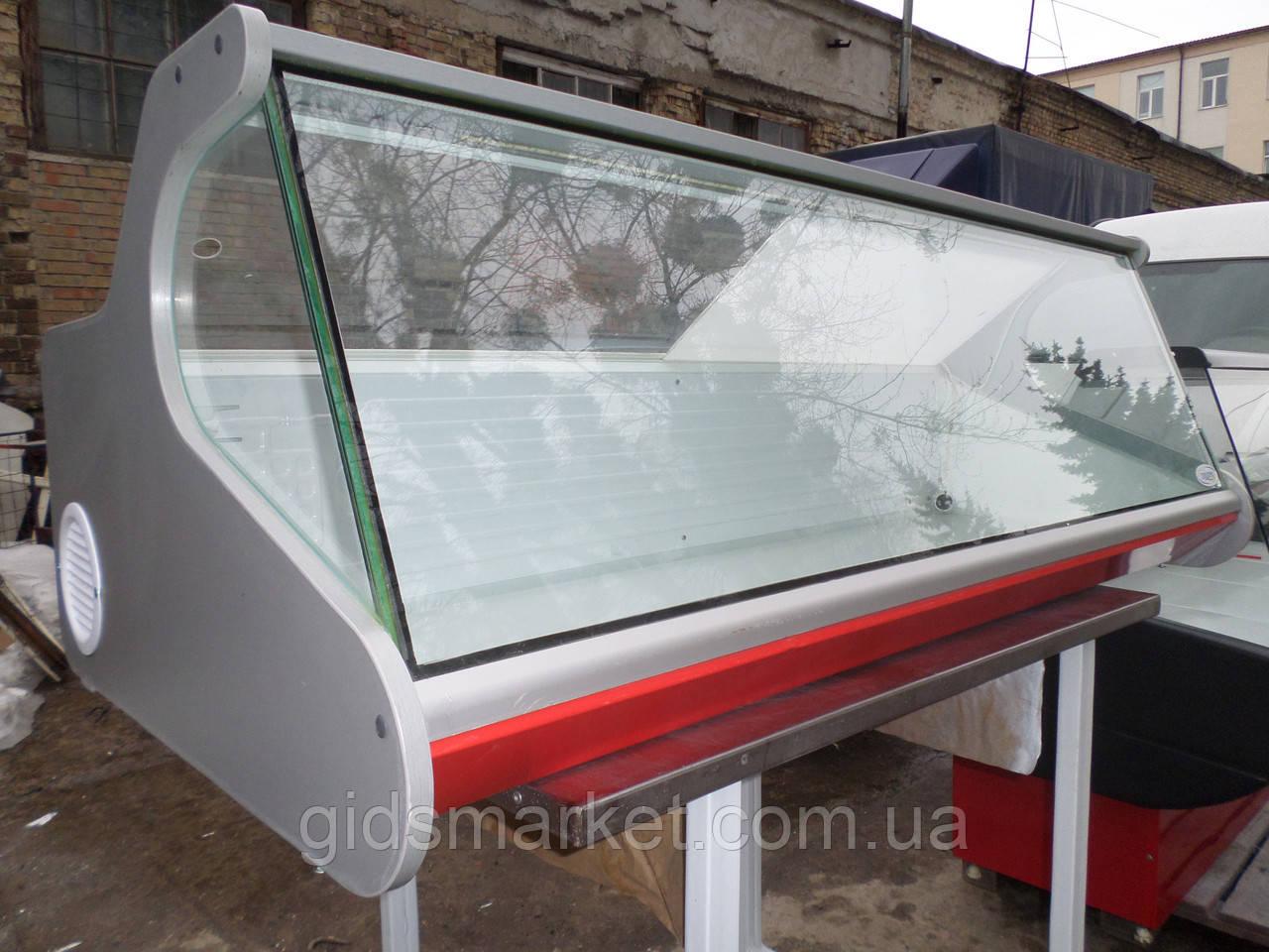 Холодильная витрина настольная Днепро б/у., витрина гастрономическая бу.