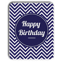 "Металл открытка - табличка ""Happy Birthday"" синяя"