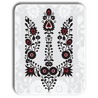 """Металл открытка - табличка """"Вышиванка - тризуб"""""""