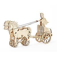 Механический 3D пазл Римская колесница, фото 1