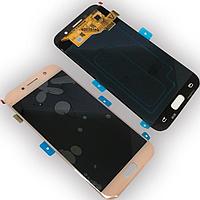Оригинальный дисплей (модуль) + тачскрин (сенсор) для Samsung Galaxy A5 2017 A520 A520F (розовый Super AMOLED)