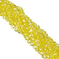 Бусины под Хрусталь Желтые прозрачные Рондель 6 мм 100 шт/нить