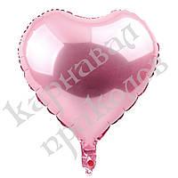 Шарик (45см) Сердечко розовое