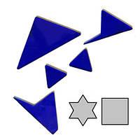 Мини головоломка геометрическая Звезда и квадрат, фото 1