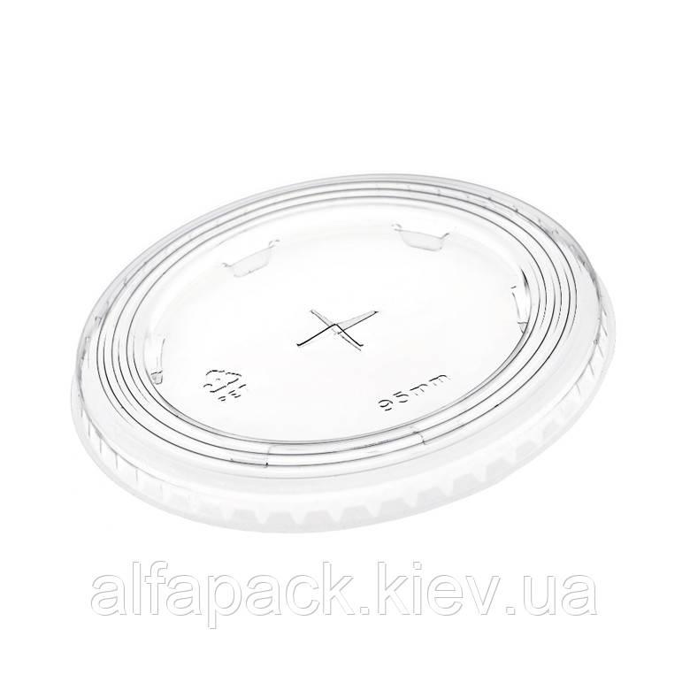 Крышка плоская прозрачная с отверстием