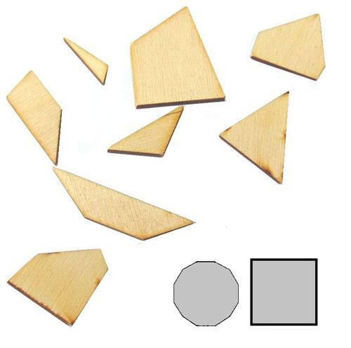 Мини головоломка геометрическая Десятиугольник