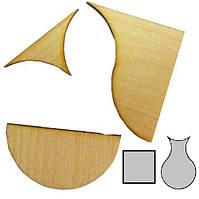 Мини головоломка геометрическая Квадрат и ваза