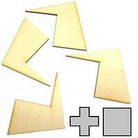 Мини головоломка геометрическая Крест и квадрат