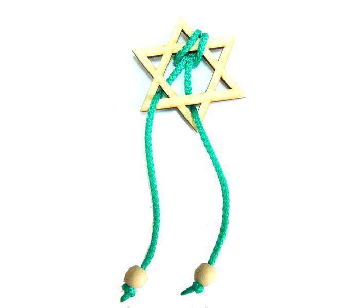 Мини головоломка веревочная Звезда Давида