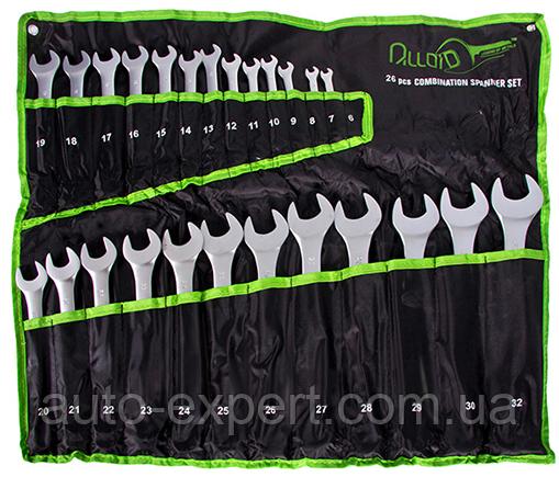 Набор комбинированных ключей 6-32 мм Alloid 26 предметов (НК-2005-26M)