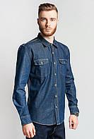 Рубашка джинсовая 684K002 (Сизо-синий)