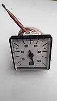 Термометр котла 0-120°C 45х45mm с капиляром
