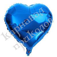 Шарик (45см) Сердечко синее, фото 1