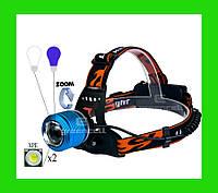 Фонарь налобный WD 260 100000W T6 XPE синий свет, фото 1