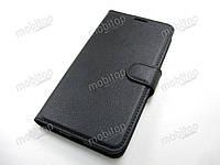 Кожаный чехол книжка Huawei Mate 10 Lite (черный), фото 1