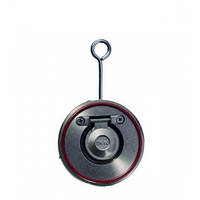 Клапан обратный поворотный не подпружиненный межфланцевый, 1,6 МПа/ -40 150 °С/нерж.сталь (AISI 316), Ду150