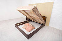 Ліжко Сіті з фільонкою і ПМ 200*140 бук Олімп, фото 1