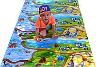 Детский игровой коврик для ползания ребенка «Happy Kinder» XL 2000х1200x8 мм