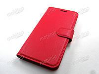 Кожаный чехол книжка Lenovo K5 / K5 Plus / A6020 (красный), фото 1