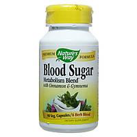 Комплекс для понижения сахара в крови, Blood Sugar, Nature's Way, 90 капсул