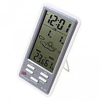 Домашняя метеостанция DC-801 с часами, календарём и будильником, фото 1
