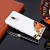 Чехол бампер на Huawei Mate 10 Lite | nova 2i металлический со съемной зеркальной крышкой, Серебристый, фото 2