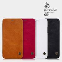 "Кожаный чехол (книжка) Nillkin Qin Series для Apple iPhone X (5.8"")"