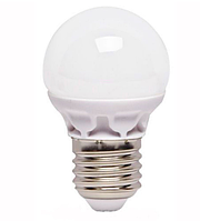 Лампа LED G45 5W 220V 4100K E27 матовая, фото 1