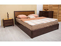 Кровать Сити с интарсией и ПМ 200*120 бук Олимп, фото 1