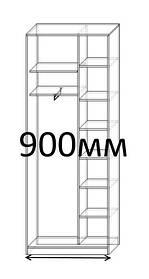 Шкафы купе 90 см