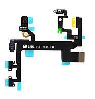 Оригинальный шлейф кнопок включения/громкости/без звука (верхний шлейф) iPhone 5S